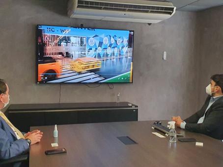 David Soares discute estratégias municipais com Agência Brasileira de Desenvolvimento Industrial