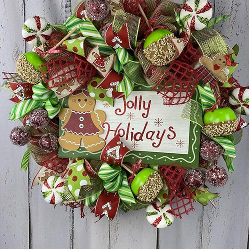 Jolly Holidays Wreath
