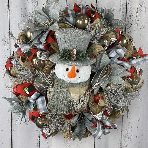 Rustic Snowman Wreath
