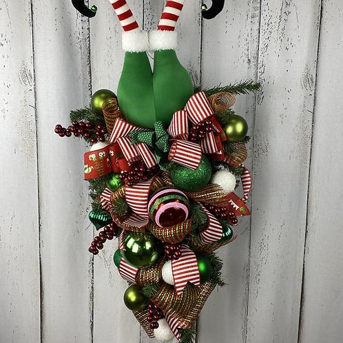 Elf Feet Wreath