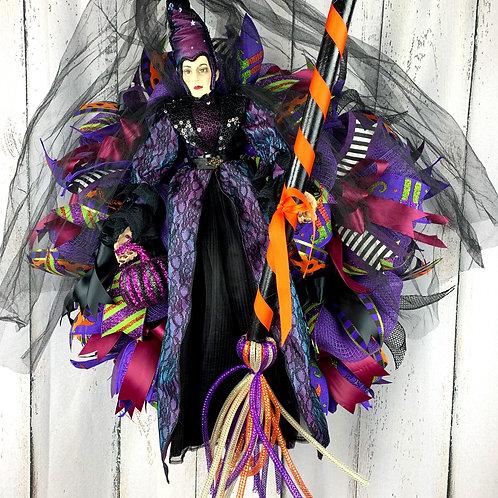 Witch Halloween Wreath