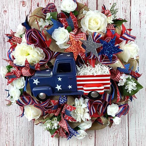 Patriotic Truck Wreath