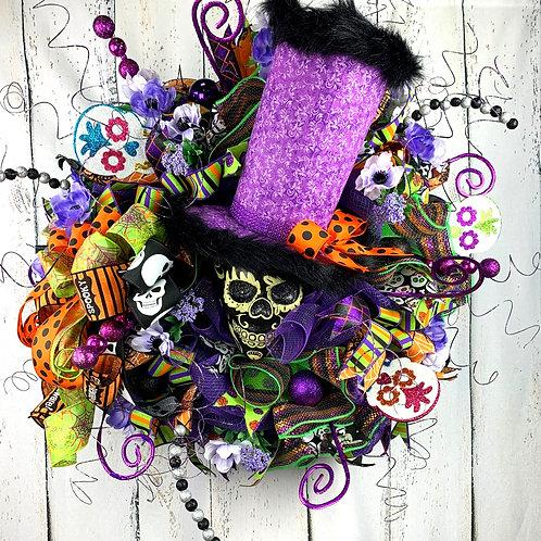 Purple Skull Wreath