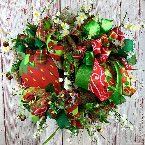 Strawberry Time Wreath
