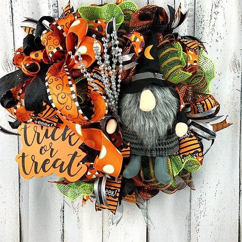 Gnome Halloween Wreath