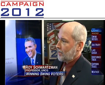 Roy Schwartzman analyzing 2012 Presidential debates (WFMY News 2 (CBS)
