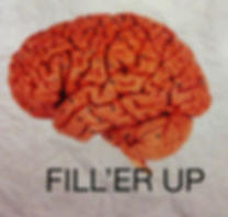 Picture of human brain with caption: Fill 'er up