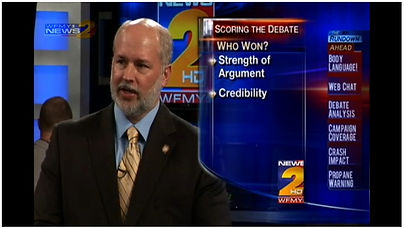 Roy Schwartzman interviewed about Presidential debates, WFMY News 2 (CBS)