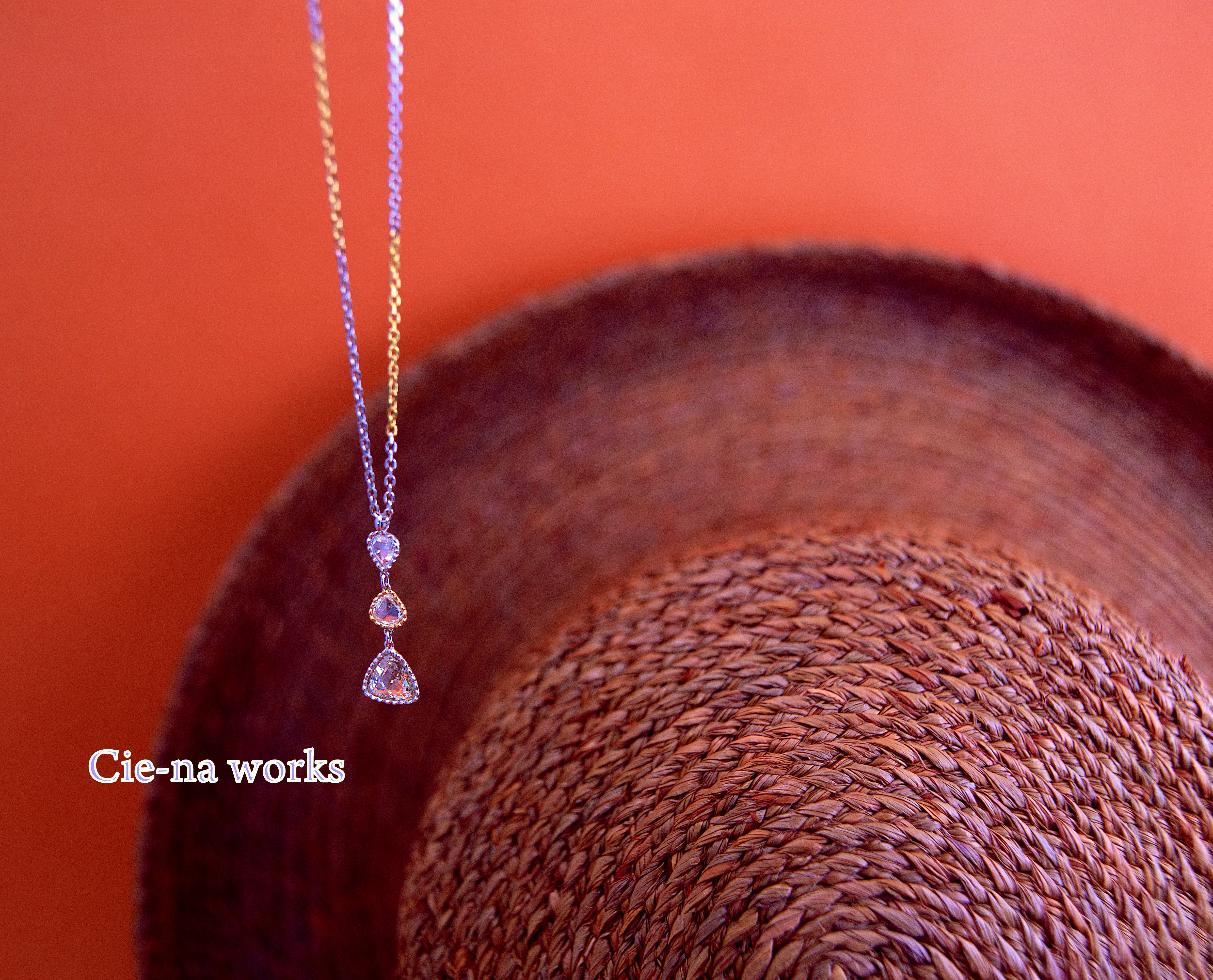 ローズカットダイヤモンドのペンダント