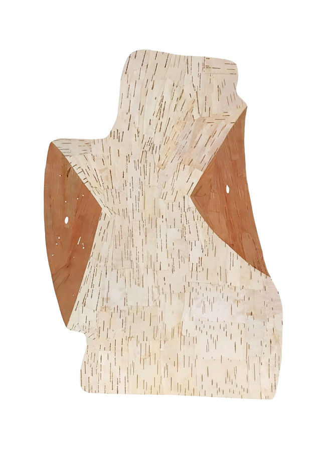 Bust, birch bark on paper, 2020 (77 x 59 cm)