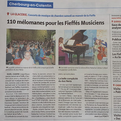 Duo Neria, article de presse