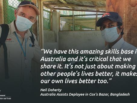 Australia supports COVID-19 response in Cox's Bazar, Bangladesh