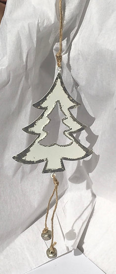 Silver Tin Xmas Decoration