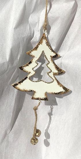Gold Tin Xmas Decoration