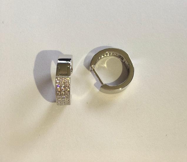 Sterling Silver Clear CZ Earrings