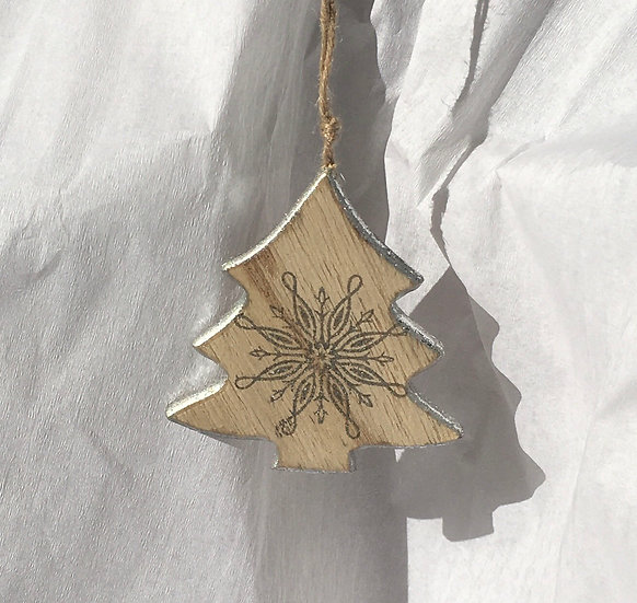 Solid Wood Christmas Decoration