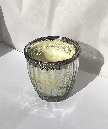 Silver Glass Candle