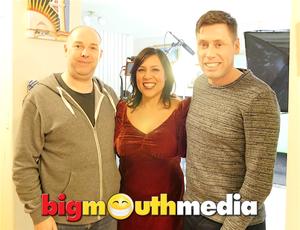 Kate Ceberano records at Big Mouth Media's studios !