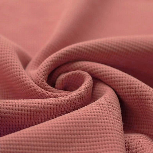Waffelstrick Jersey clay pink