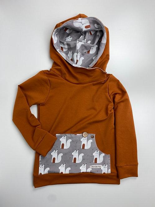 Hoodie Gr. 116 Eichhörnchen