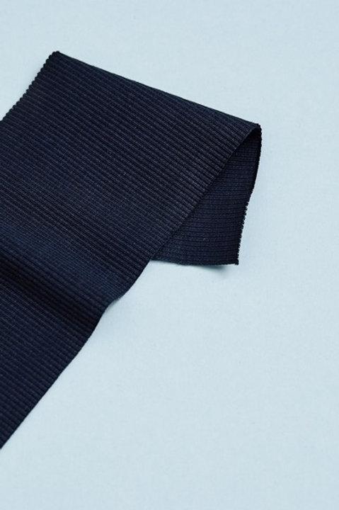 Organic 2x1 Rib Jersey dunkelblau
