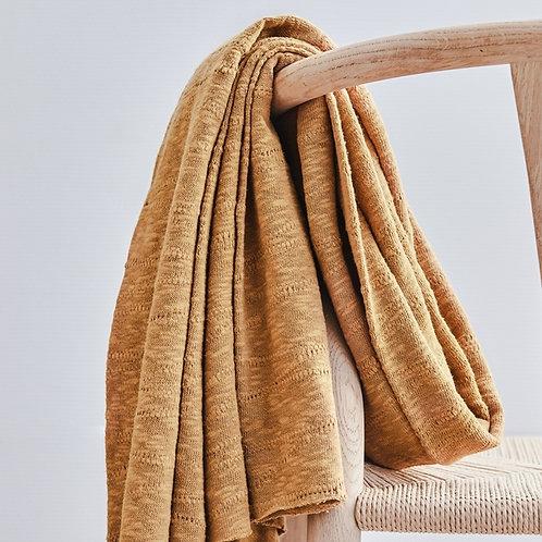 Organic Slub Jacquard Knit mustard