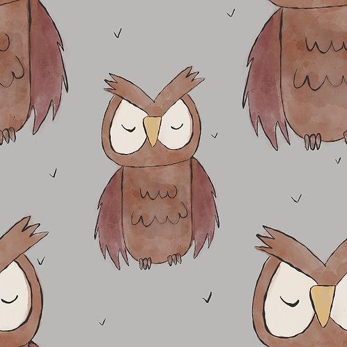 Sleepy Owl grey