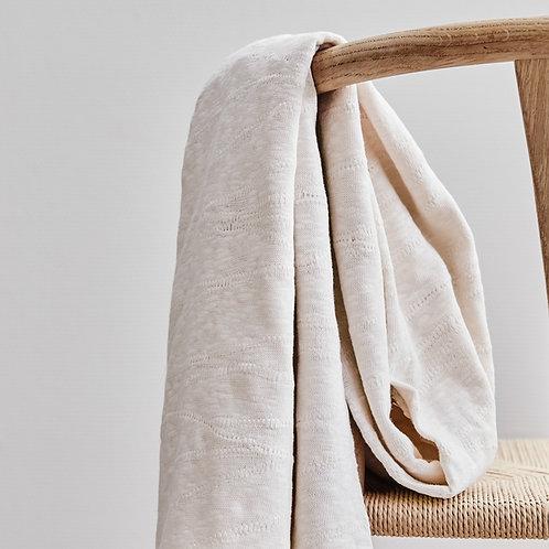 Organic Slub Jacquard Knit creamy white
