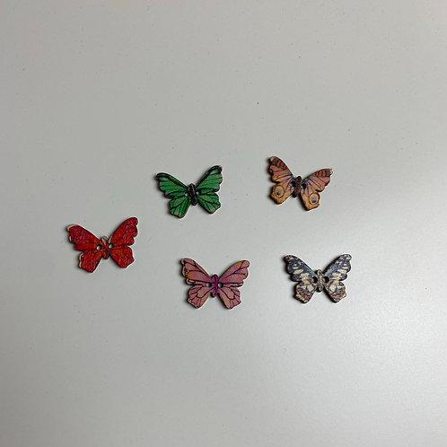 SET Schmetterling Knöpfe