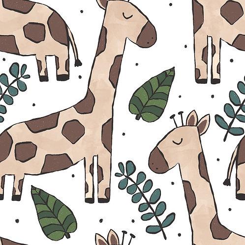 Giraffe & leaves