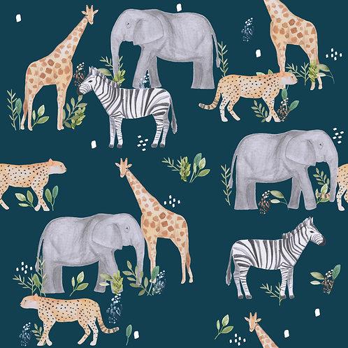 Safari Animals petrolblau