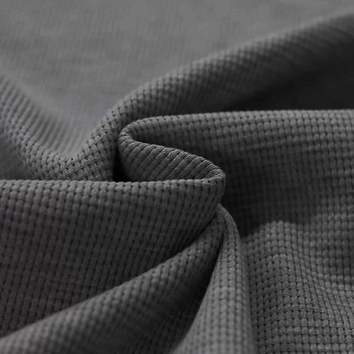 Waffelstrick Jersey dunkelgrau meliert