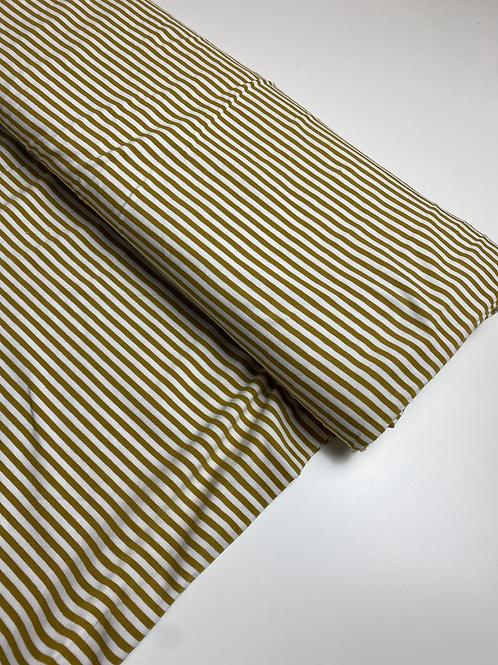 Streifen senf/weiß Jersey