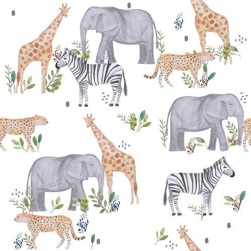 Safari Animals white