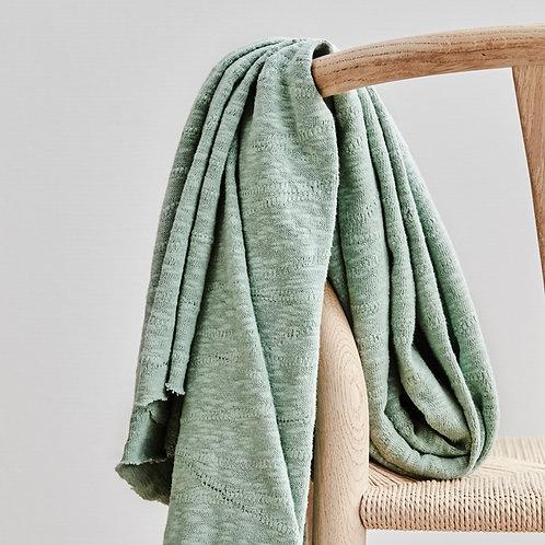 Organic Slub Jacquard Knit sage green