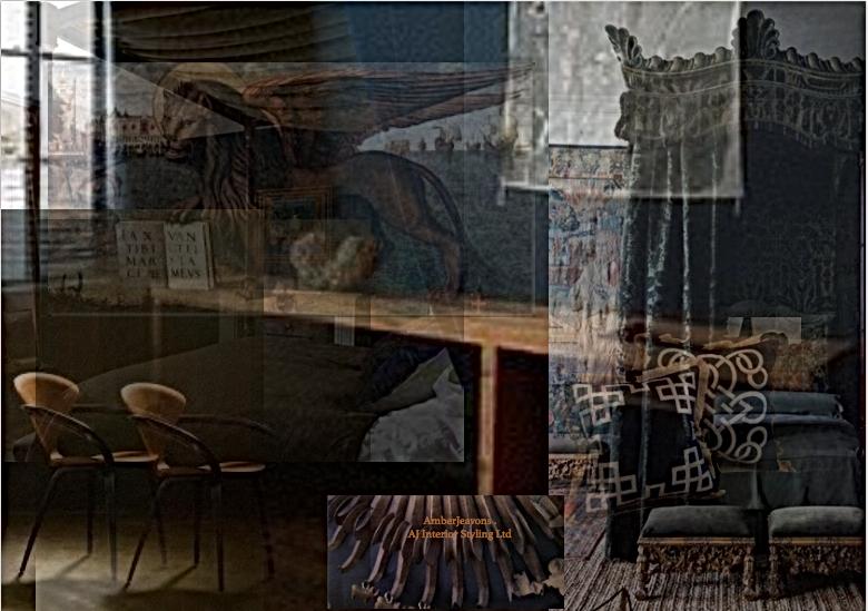 Period Modern bedroom Tapestry decor
