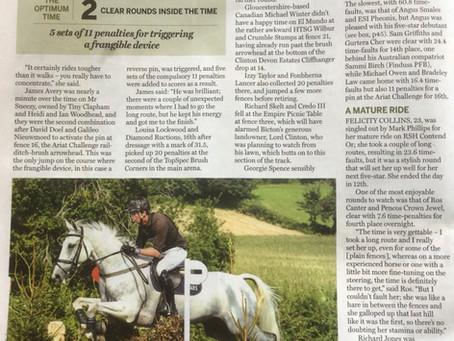 Richard's Bicton success featured in Horse & Hound magazine