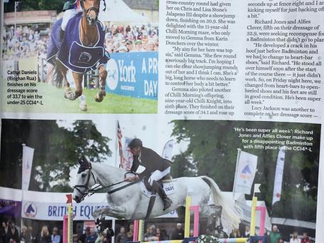 Richard's Bramham success featured in Horse & Hound magazine