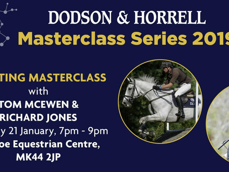 Richard Jones and Tom McEwen to feature in initial 2019 Dodson & Horrell Eventing Masterclass
