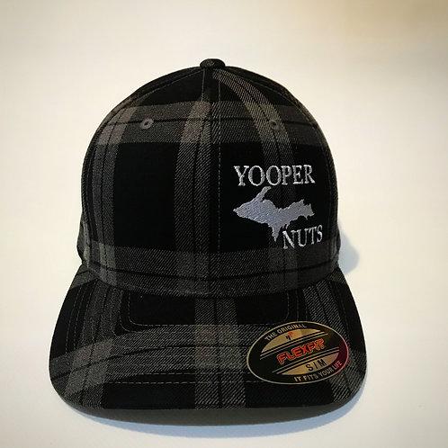 Original Fitted Flexfit Tartan Plaid Hat-BLACK