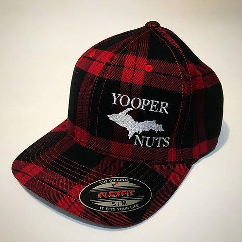 Original Fitted Flexfit Tartan Plaid Hat-RED
