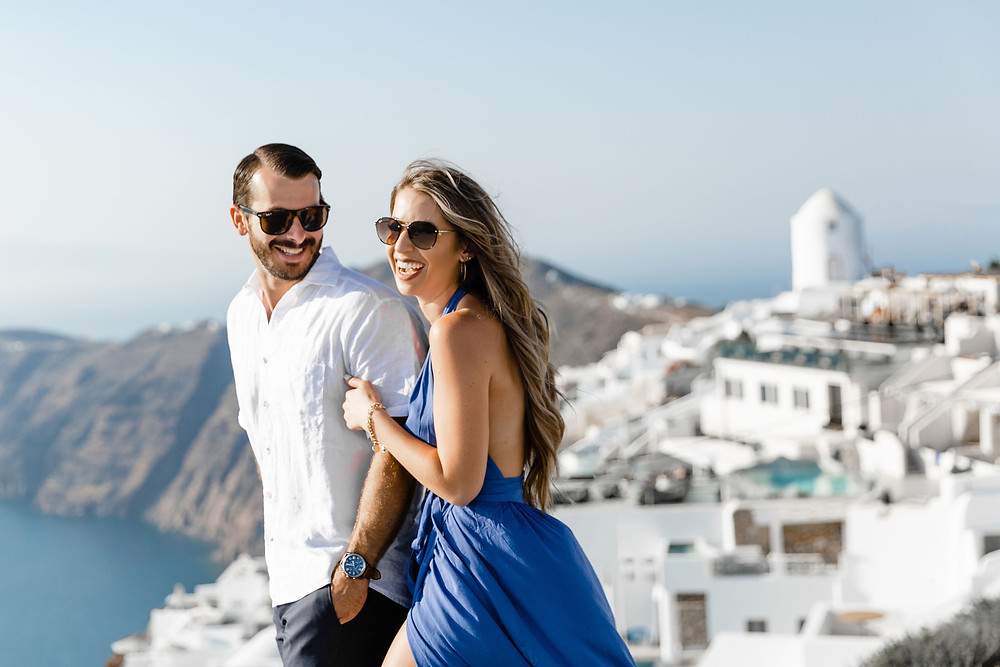 Proposal photoshoot in Santorini