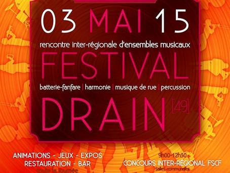 Le dimanche 3 mai à Drain (49) pour les rencontres régionales de musique de rue