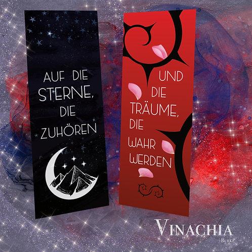 """Lesezeichen: """"Auf die Sterne, die zuhören"""" / """"Und die Träume, die wahr werden."""""""