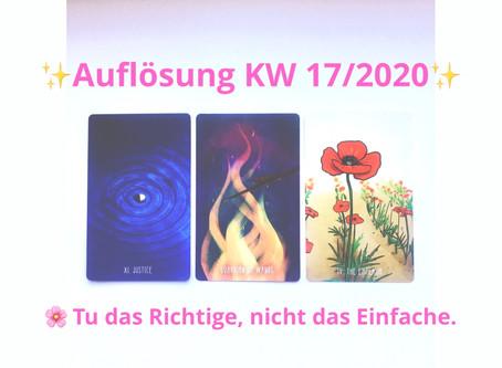 ✨Magischer Sonntag✨ KW 17 2020: Tu das Richtige, nicht das Einfache.
