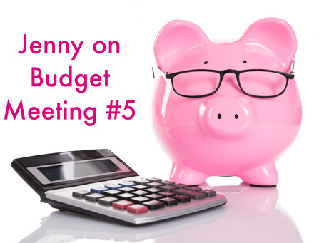 Jenny on Budget Meeting #5