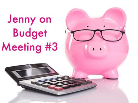 Jenny on Budget Meeting #3