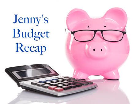 Jenny's 2019-2020 School Year Budget Recap