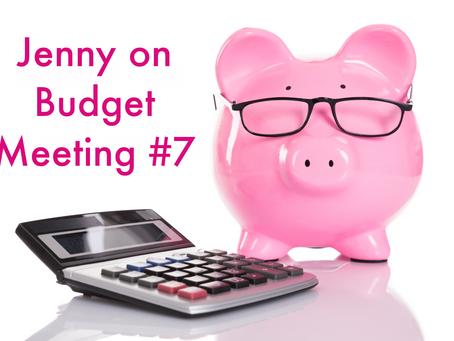 Jenny on Budget Meeting #7