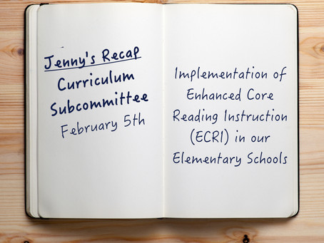 Curriculum Subcommittee - Literacy